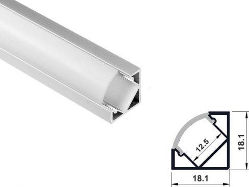 Aluminum led profile corner mount