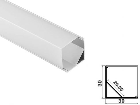 Aluminum led profile corner