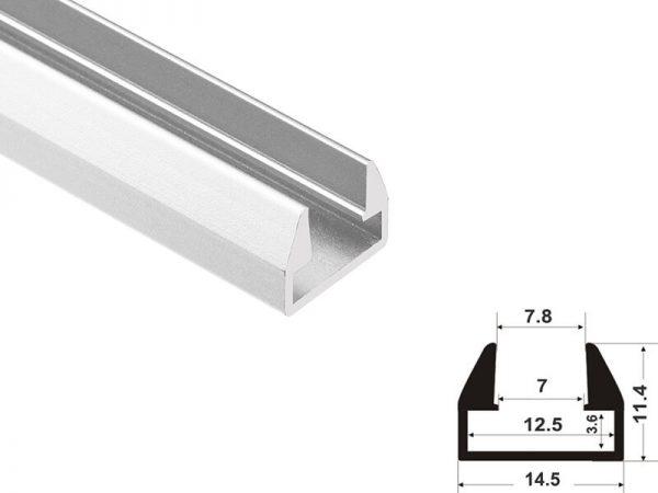 Aluminum led profile glass shelf