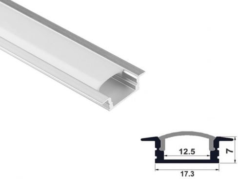 Aluminum led profile recessed