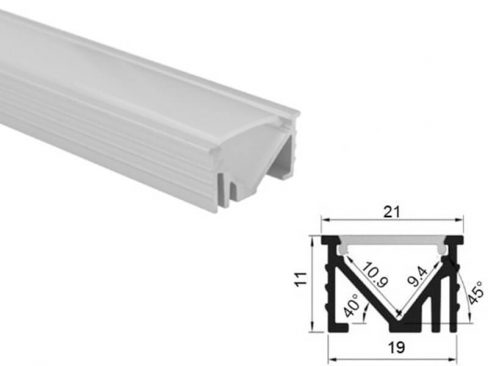 Aluminum led profile recessed mount