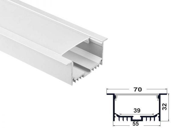 Aluminum led profile recessed mount