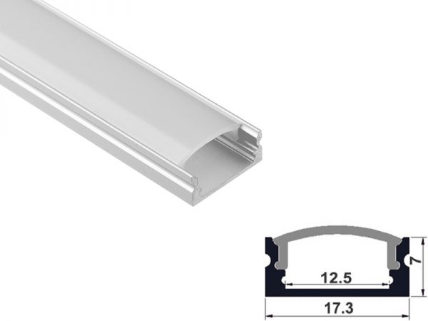 Aluminum led profile surface mount