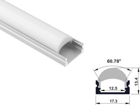 Aluminum led profile surface with lens