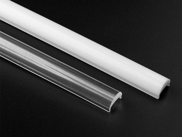 Aluminum led profile diffuser lens