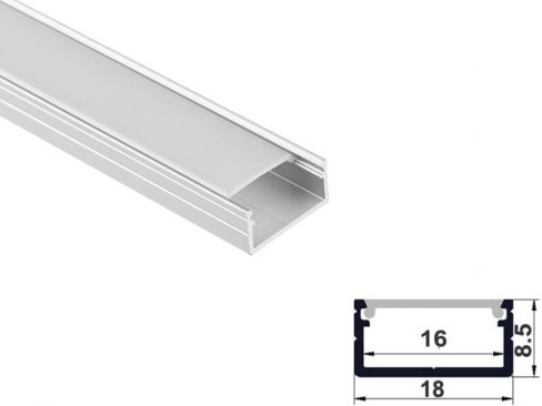 Aluminum led profile surface