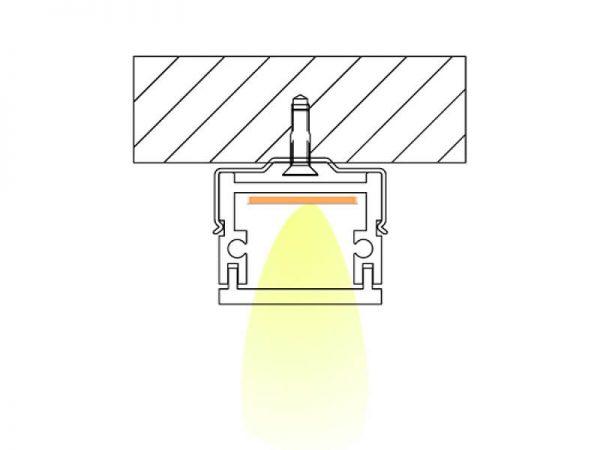 Aluminum led profile Installation diagram