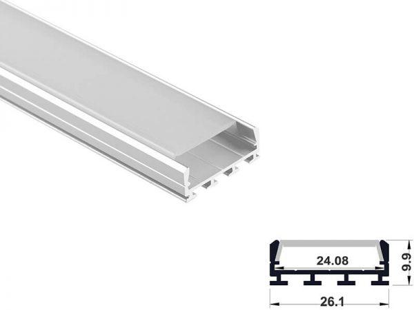 Aluminum led profile surface mount
