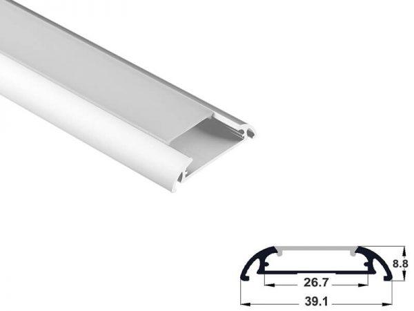 Aluminum led profile surface