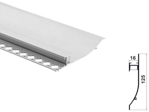 Aluminum led profile for wall