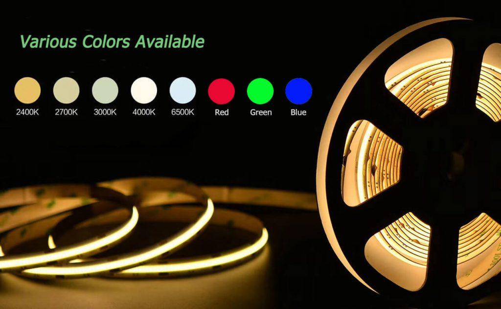 Cob Led Strip Color Available