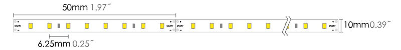 led strip 2835HG 160LEDs dimension