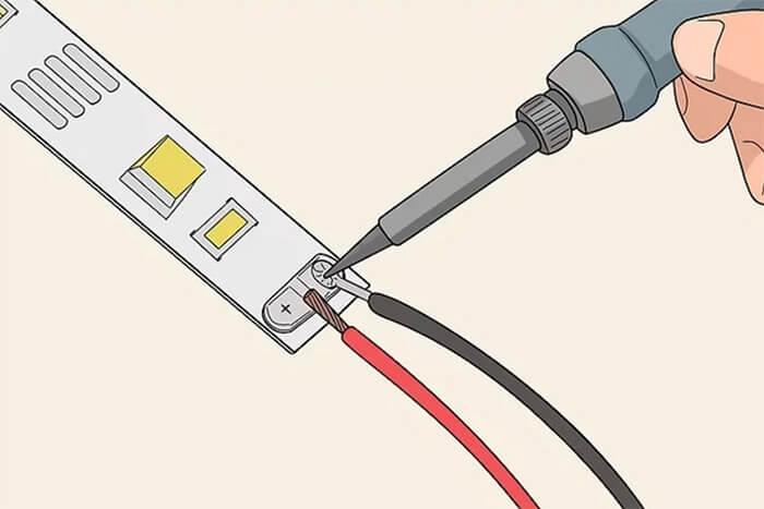 Led Strip soldering