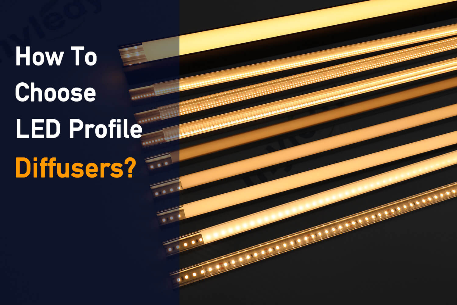 the definitive guide for how to choose led profile diffuser