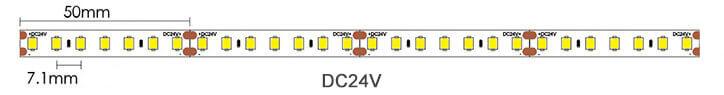 2835 140leds led strip light dimension