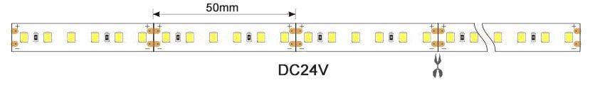 2835 24v led strip light dimension