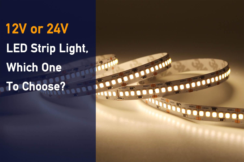 Comparison of 12v and 24v led strip lights