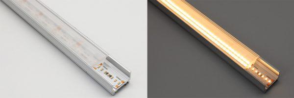 optical lens LED profile diffuser - 60 degree